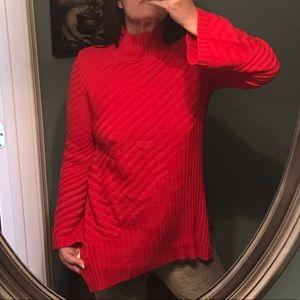 NWT Charter Club Ravishing Red Hanging Tunic Swtr
